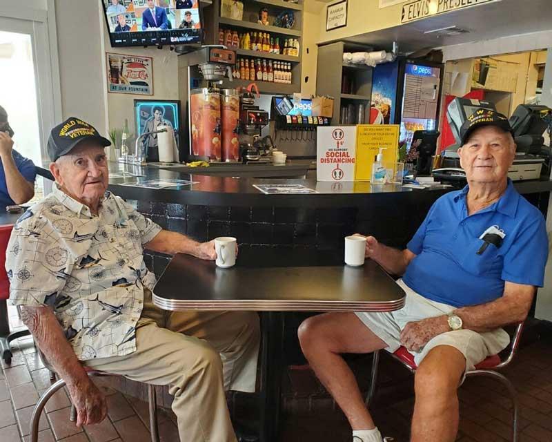 Roy & Bill WW2 Vets